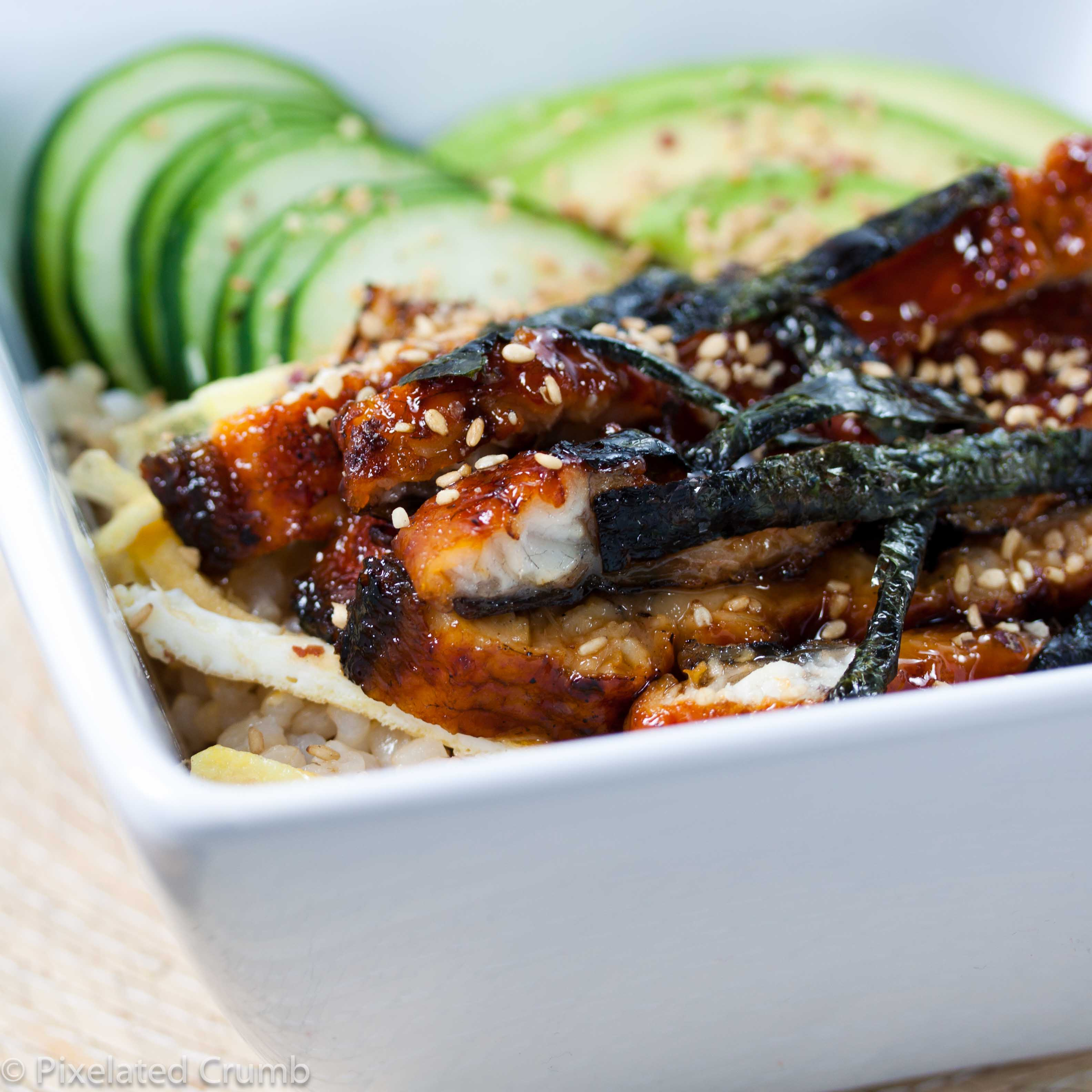 unagi don (unagi sushi rice bowl)
