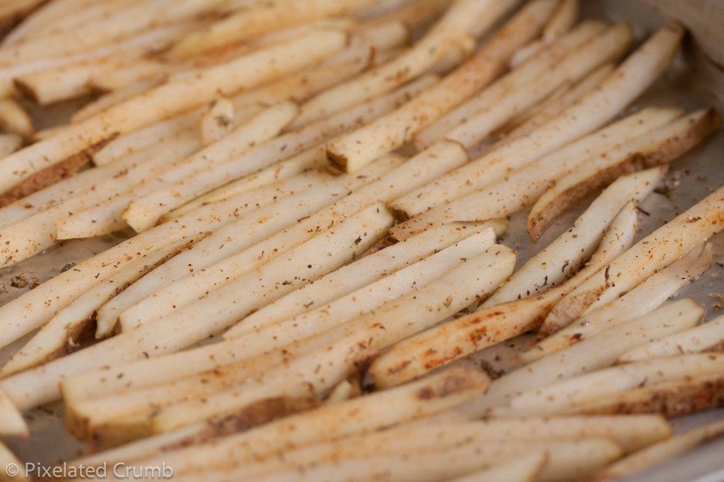 Oven Fries before going in the oven