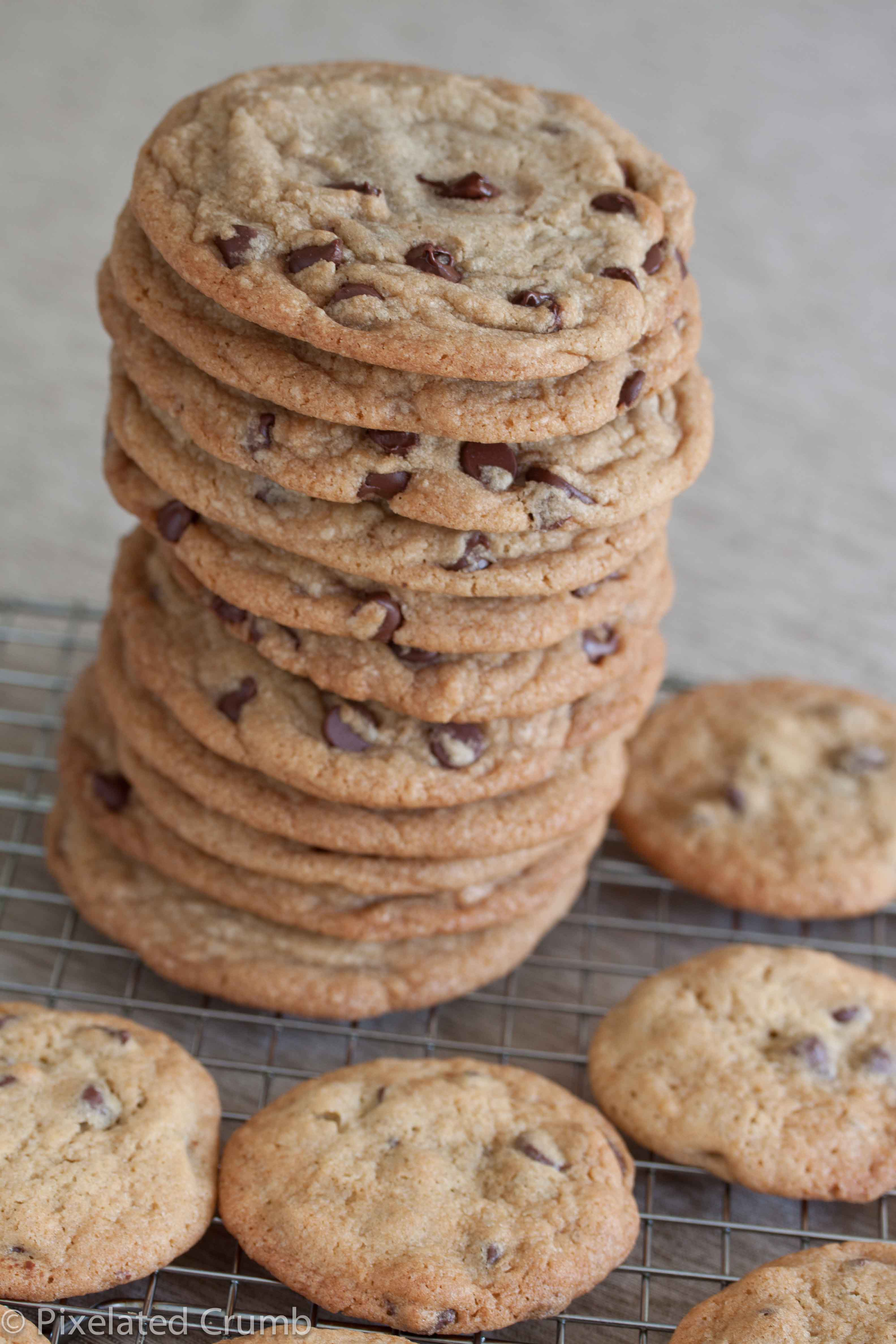 stack of giant chocolate chip cookies | Pixelated Crumb
