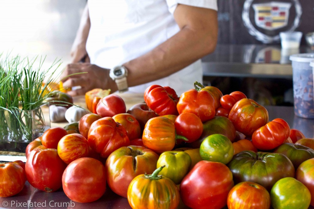 Tomatoes and Chef at the Cadillac Culinary Challenge