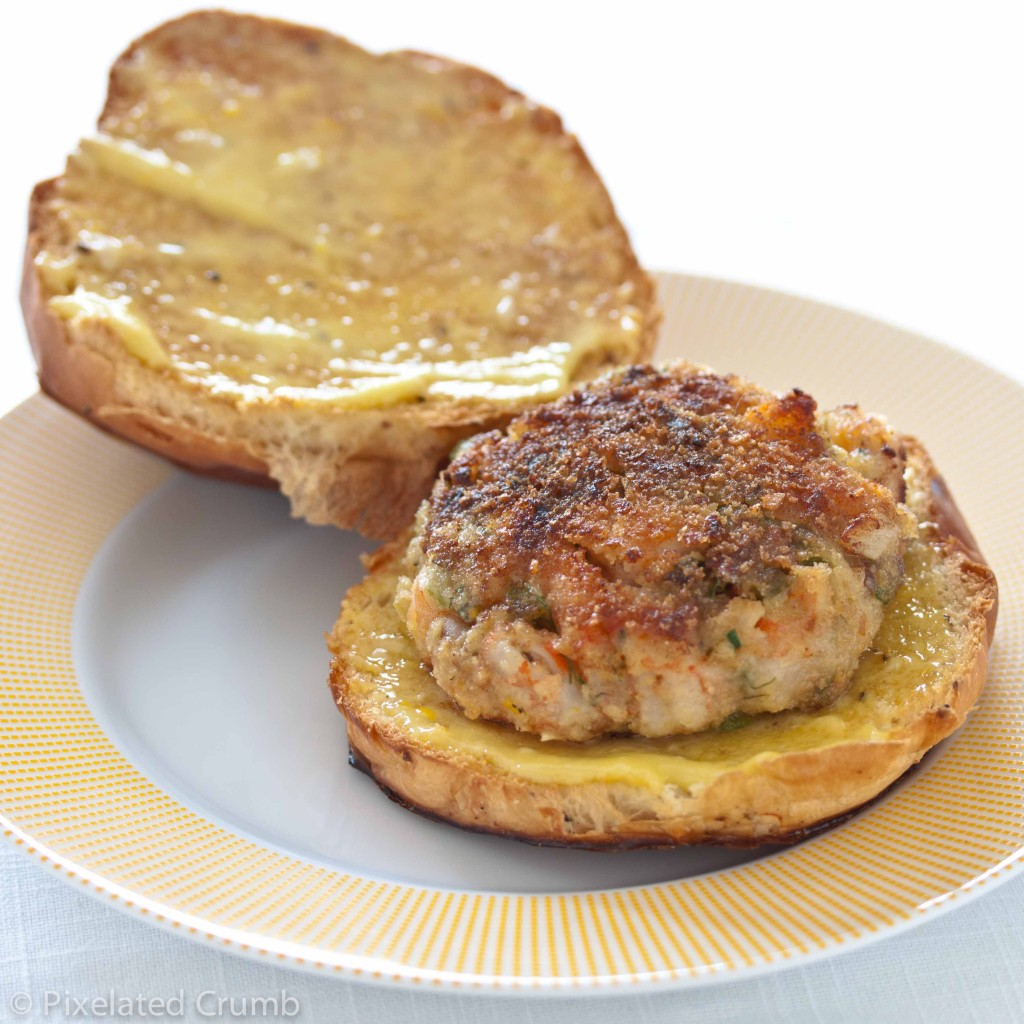 shrimp burgers with homemade roasted garlic-orange aioli ...