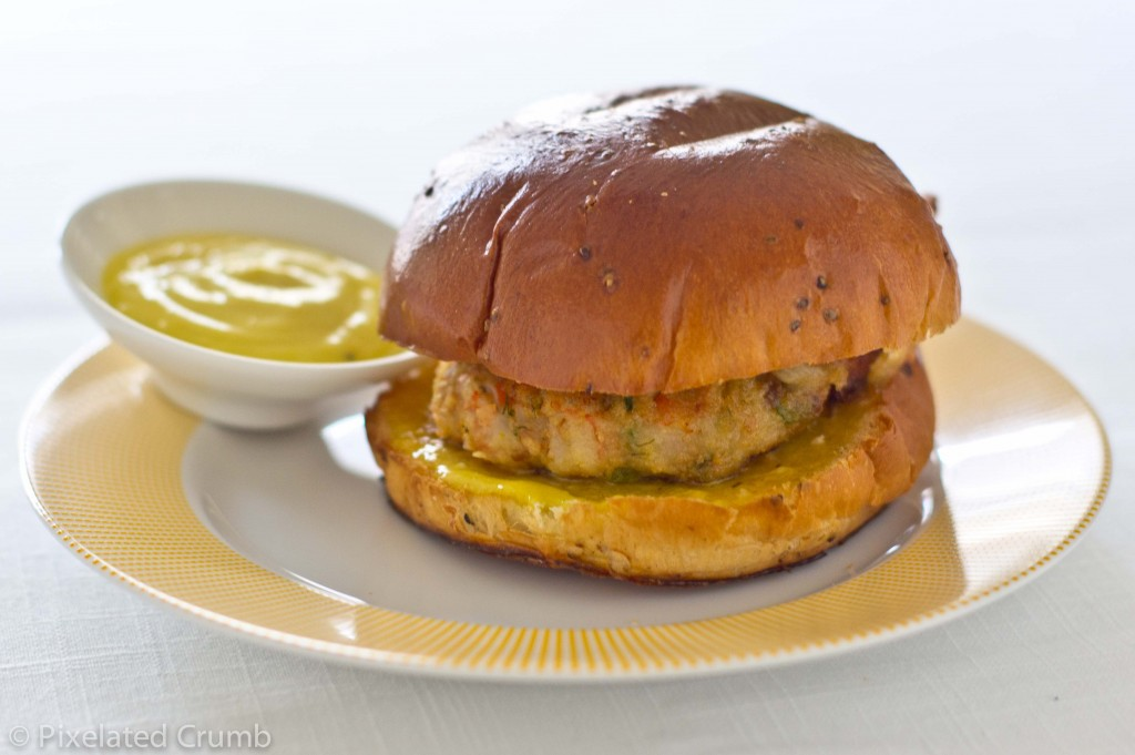 Shrimp Burgers 5 1024x681 shrimp burgers with homemade roasted garlic orange aioli