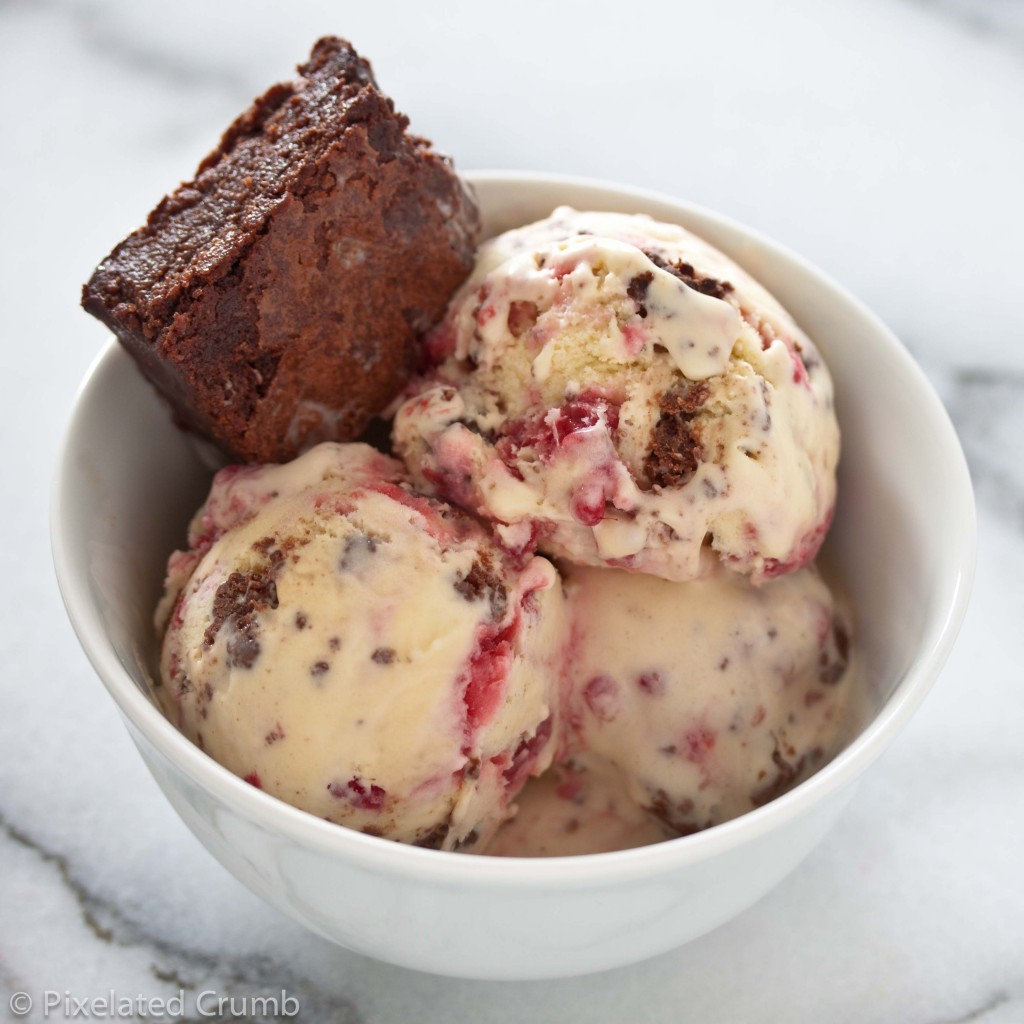 Raspberry Swirl Brownie Ice Cream