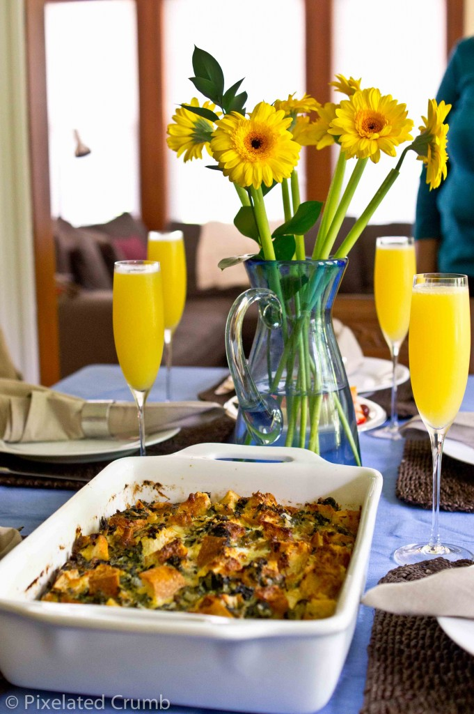 Spinach and Cheese Strata 4 681x1024 spinach and cheese strata