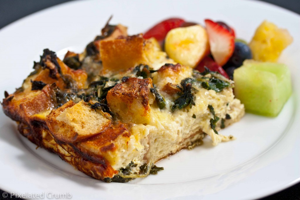 Spinach and Cheese Strata 5 1024x682 spinach and cheese strata