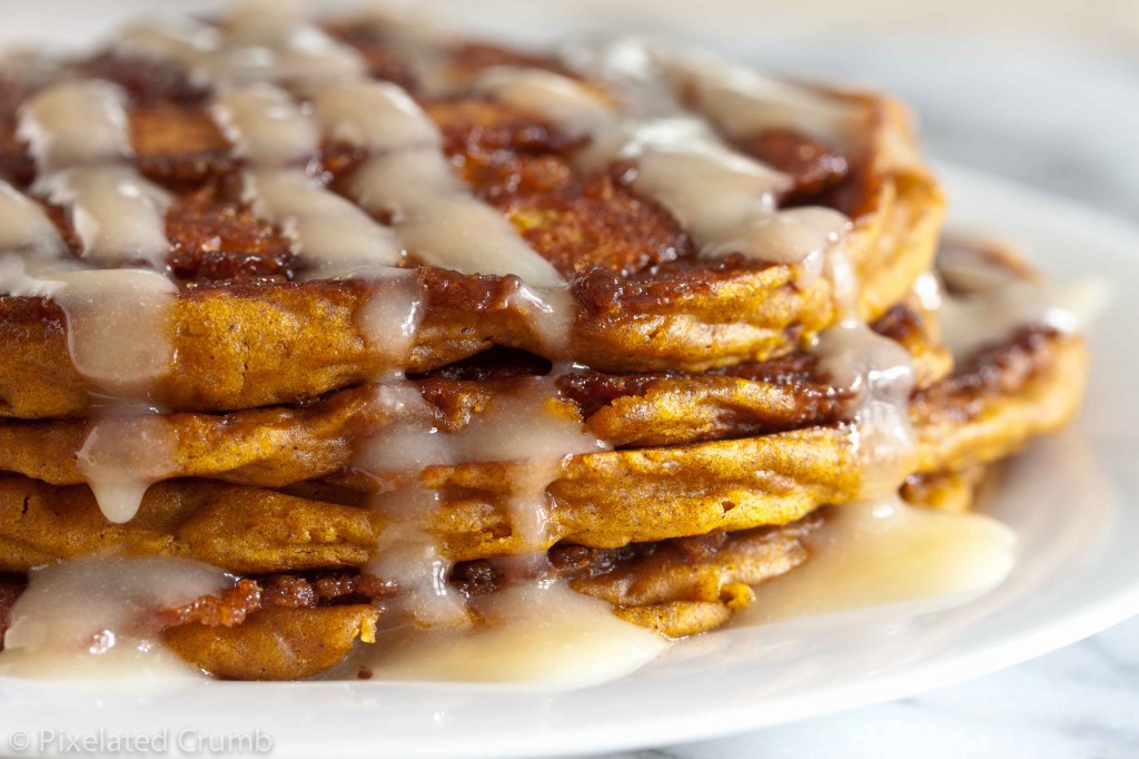 Pumpkin Cinnamon Roll Pancakes 5 1024x682 pumpkin cinnamon roll pancakes