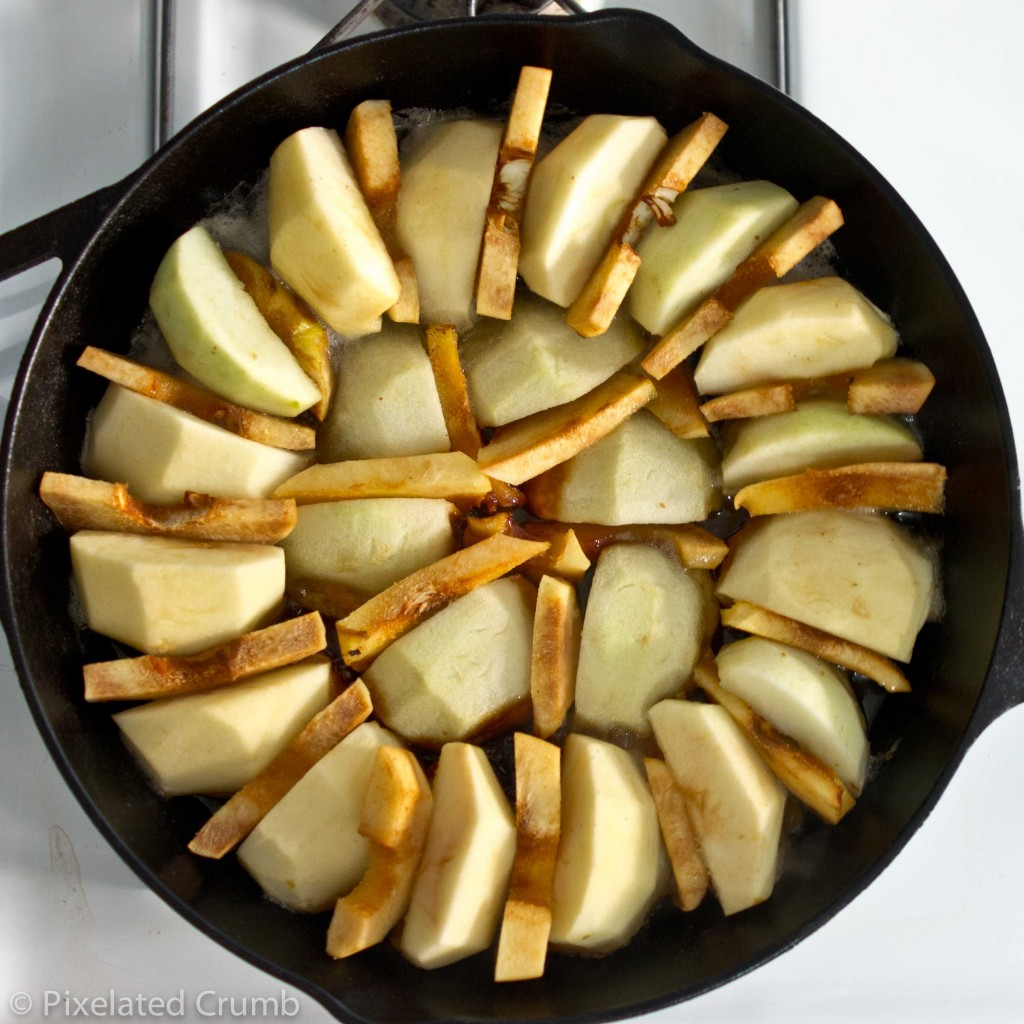 Apple and Quince Tarte Tatin on Stove