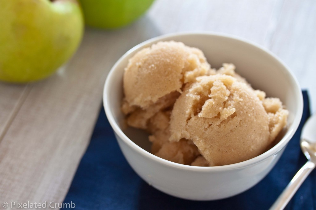 Bourbon Baked Apple Sorbet
