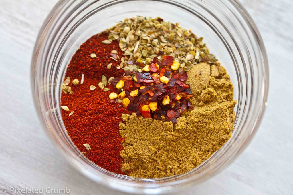 chili powder, ancho chili powder, chipotle chili powder, smoked paprika, chili pepper flakes, dried oregano