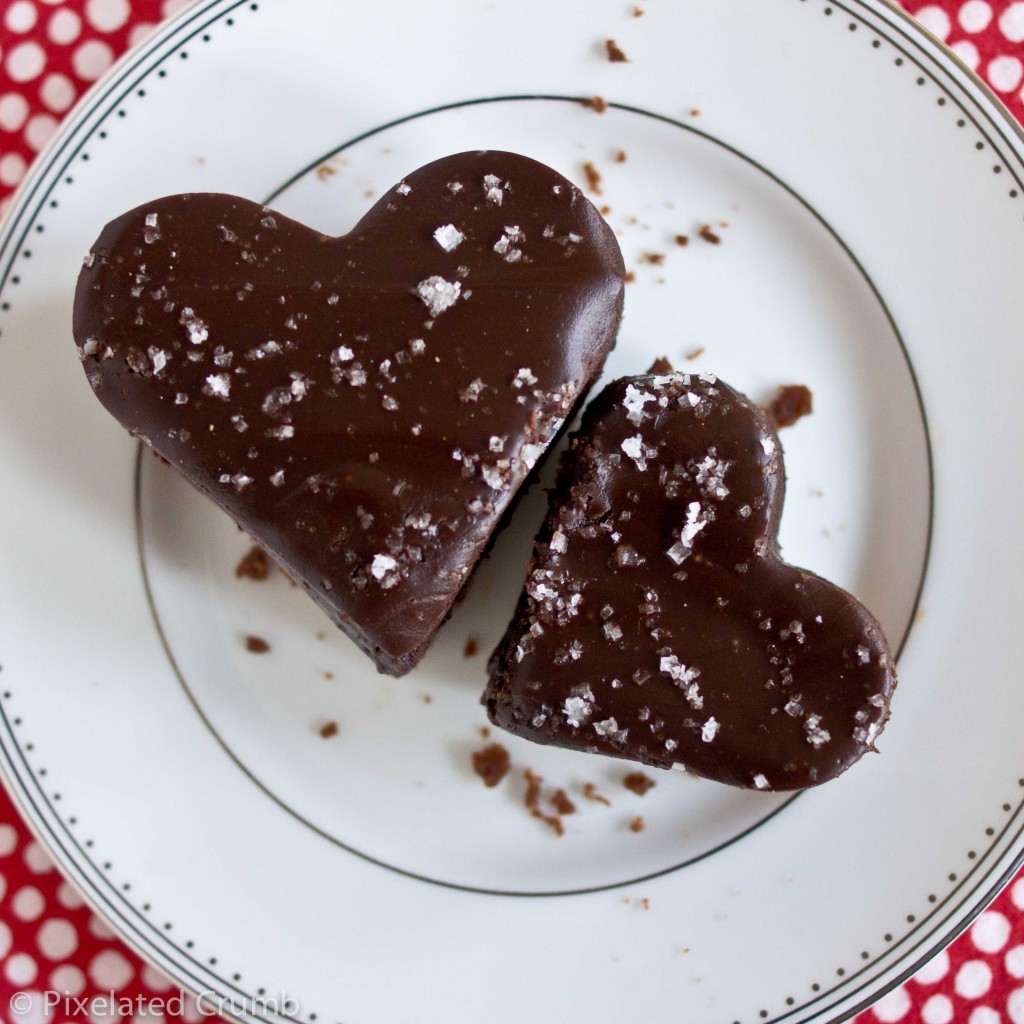 Dark Chocolate-Cherry Ganache Bars
