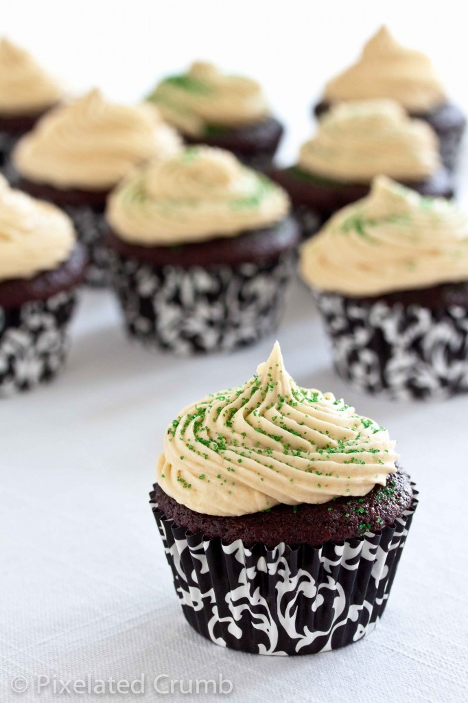 chocolate stout cupcakes with whiskey ganache filling and irish cream frosting 2 682x1024 chocolate stout cupcakes with whiskey ganache filling and irish cream frosting
