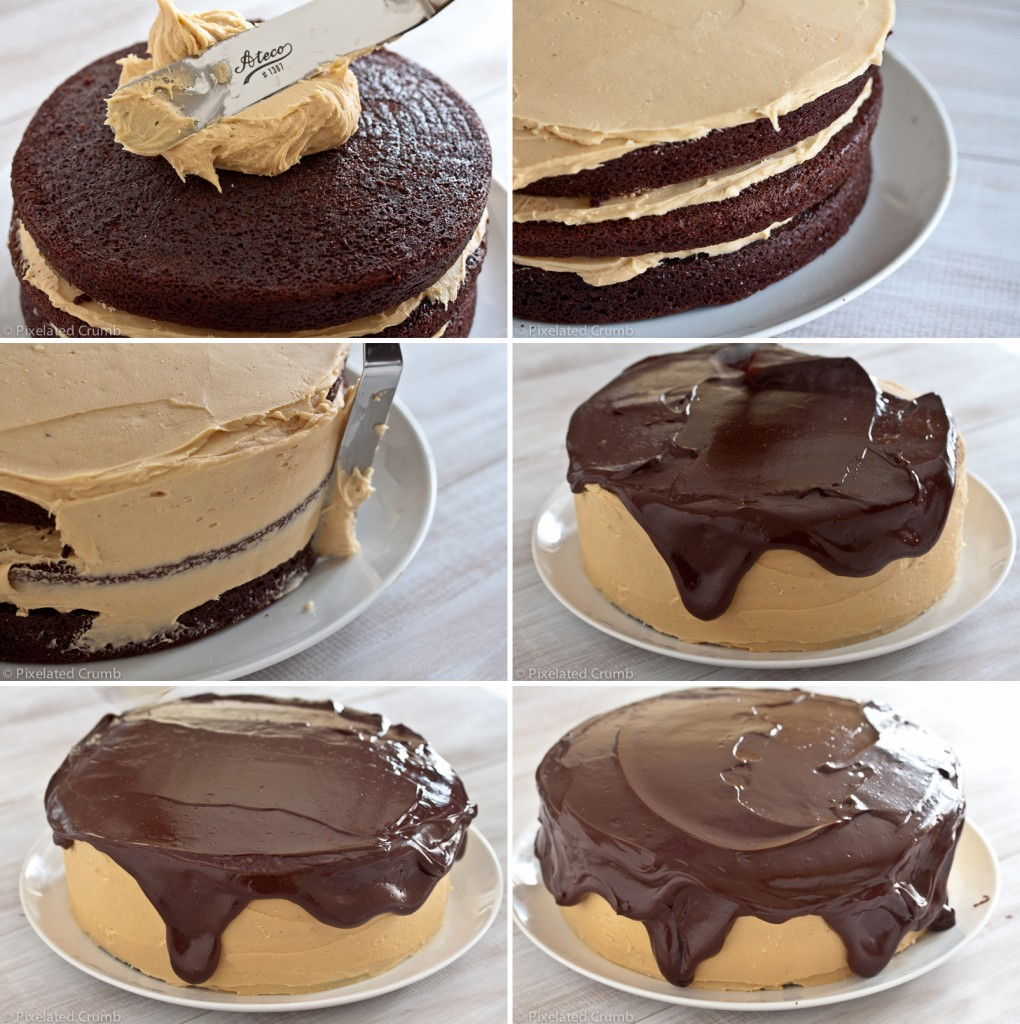 making the ultimate chocolate peanut butter cake