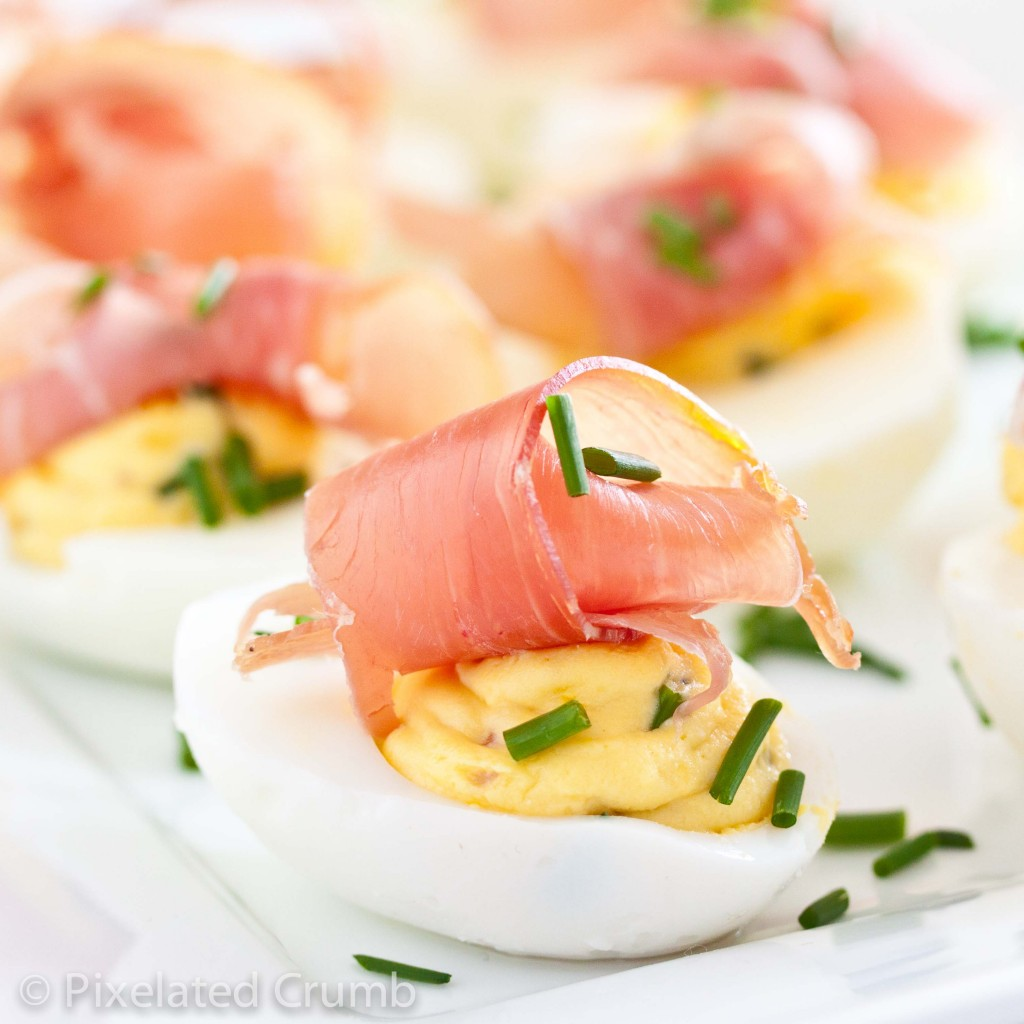 Deviled Eggs with Prosciutto