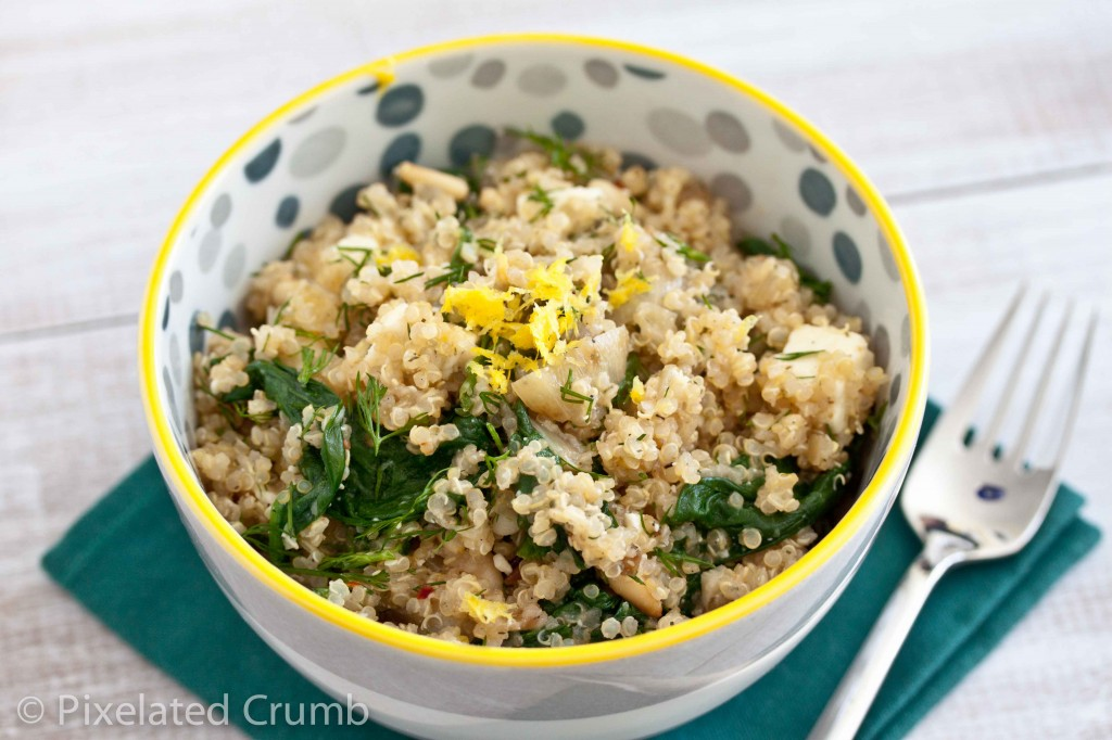 Quinoa with Spinach, Feta, and Dill