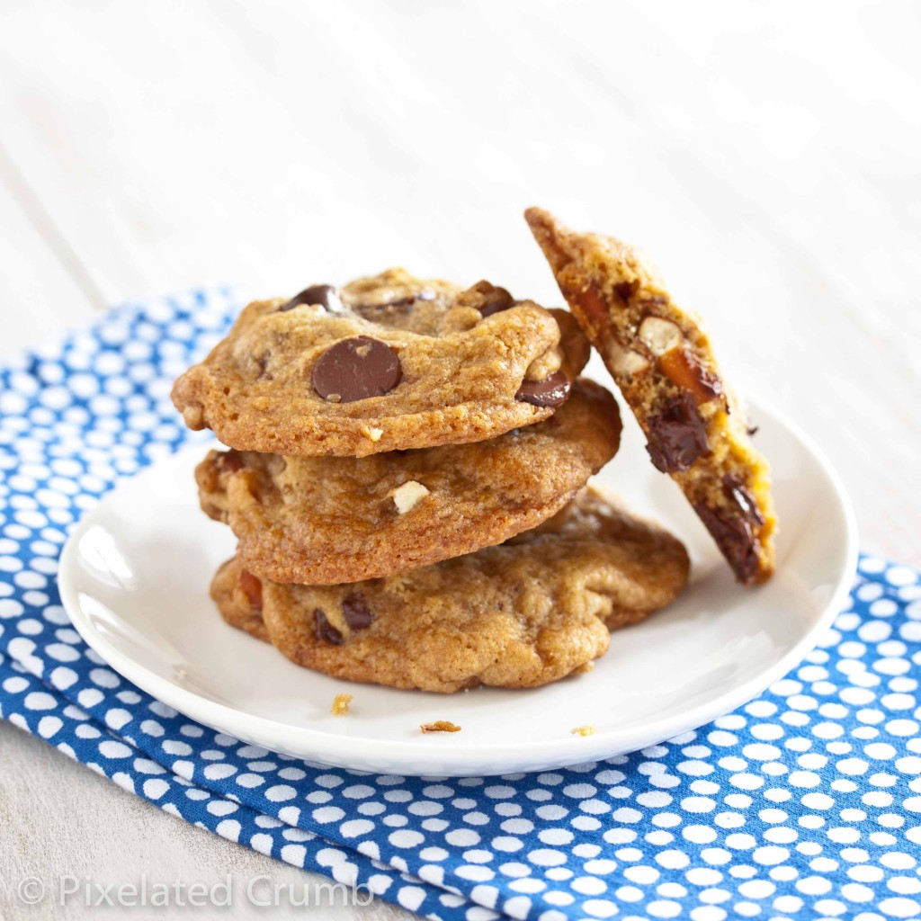 chocolate chip pretzel cookies 8 1024x1024 chewy chocolate chip pretzel cookies