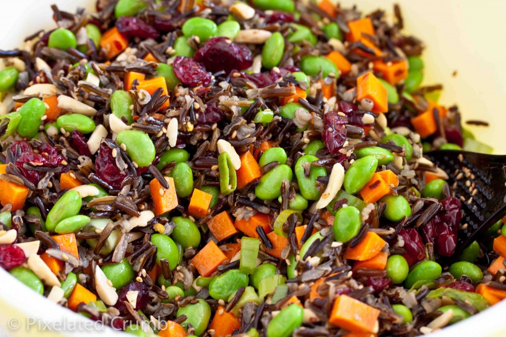 Wild Rice and Edamame Salad | Pixelated Crumb