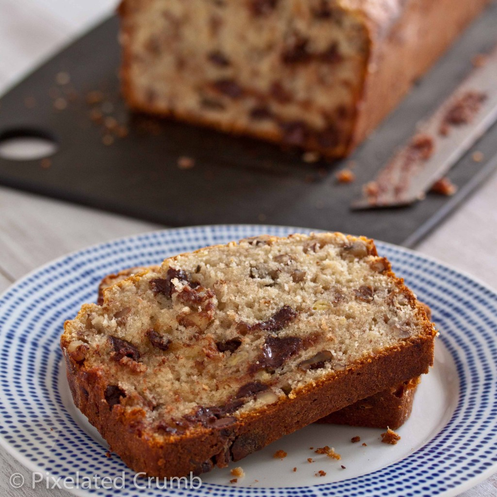 bourbon chocolate chip banana bread 4 1024x1024 bourbon and chocolate banana bread