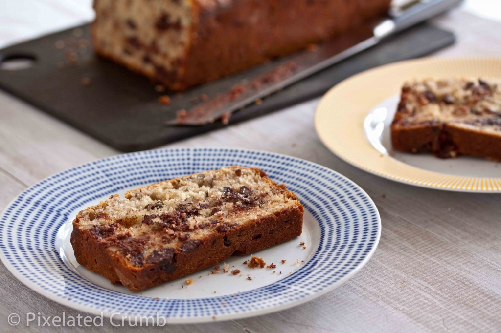 bourbon chocolate chip banana bread 6 1024x682 bourbon and chocolate banana bread