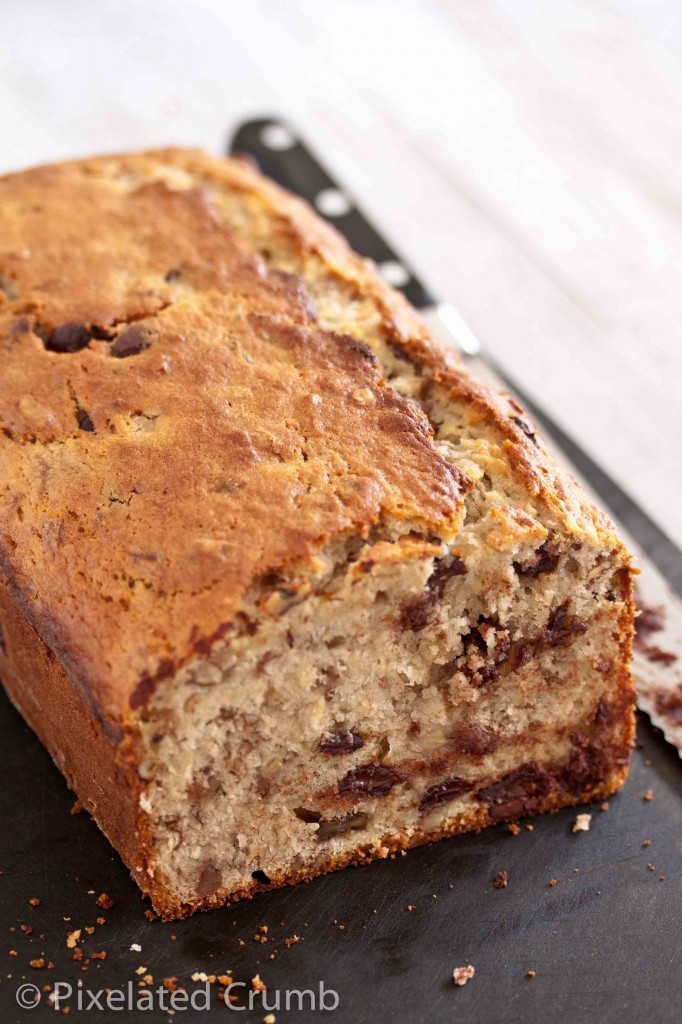 bourbon chocolate chip banana bread 7 682x1024 bourbon and chocolate chip banana bread