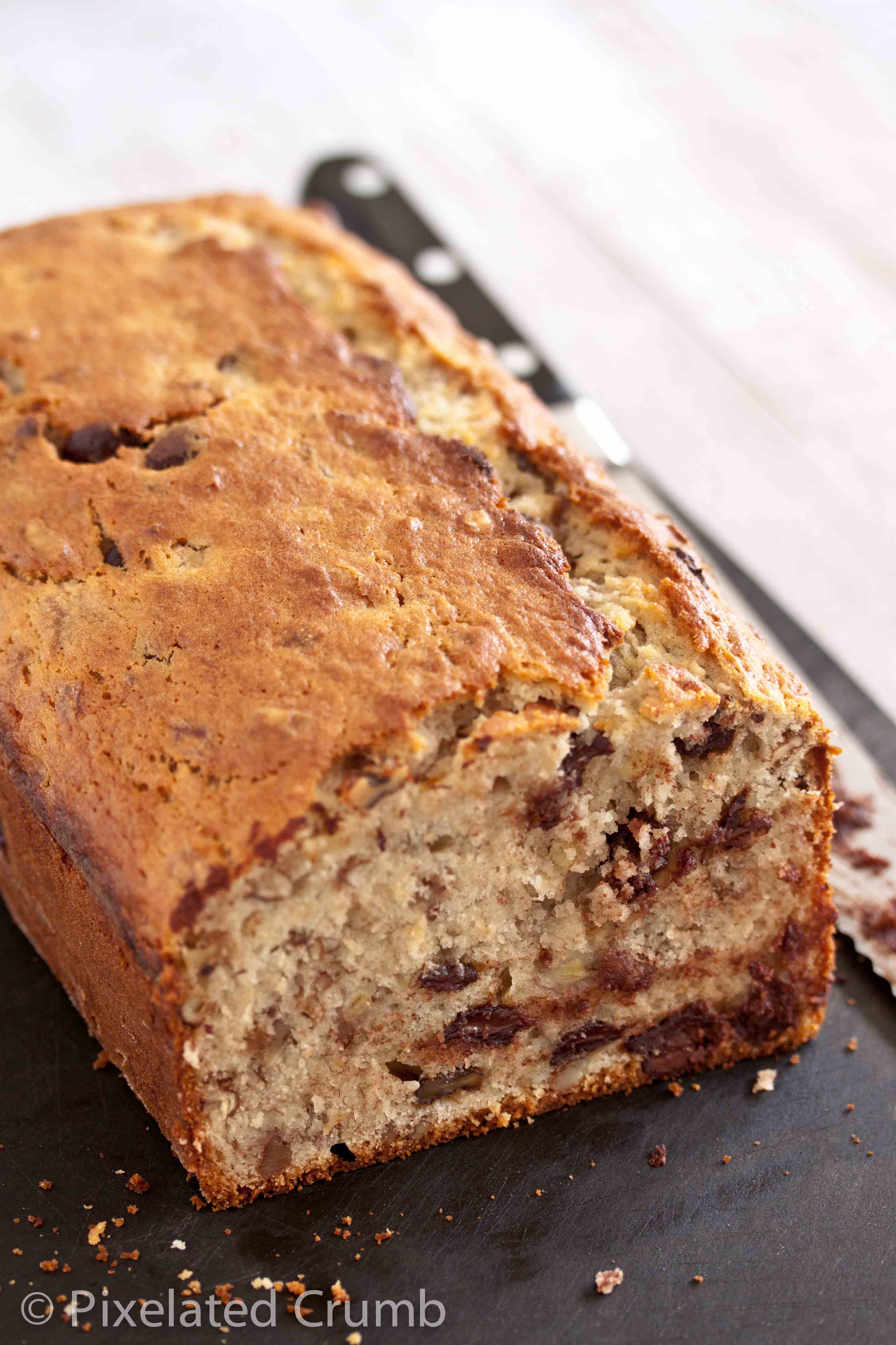 Bourbon and Chocolate Chip Banana Bread | Pixelated Crumb