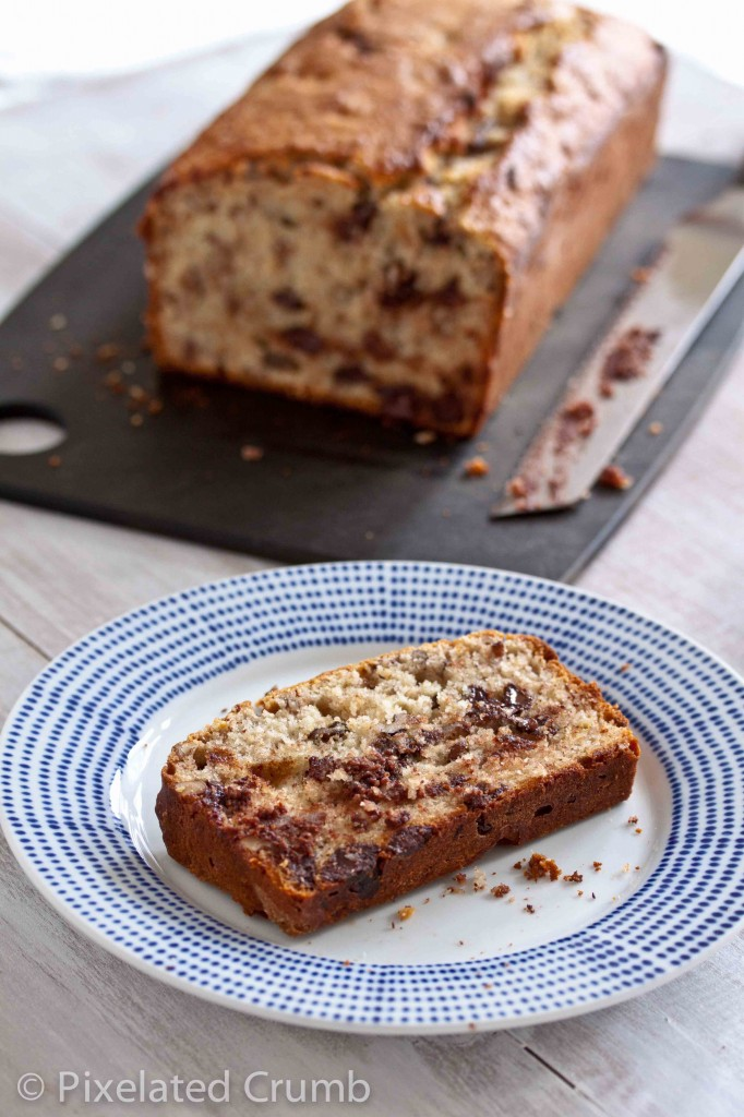 bourbon chocolate chip banana bread 9 682x1024 bourbon and chocolate banana bread