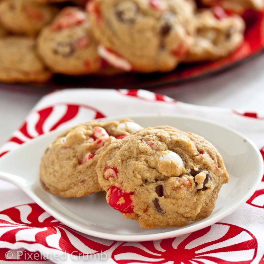Peppermint MM Cookies 4 1024x1024 chocolate chip and peppermint m&m cookies