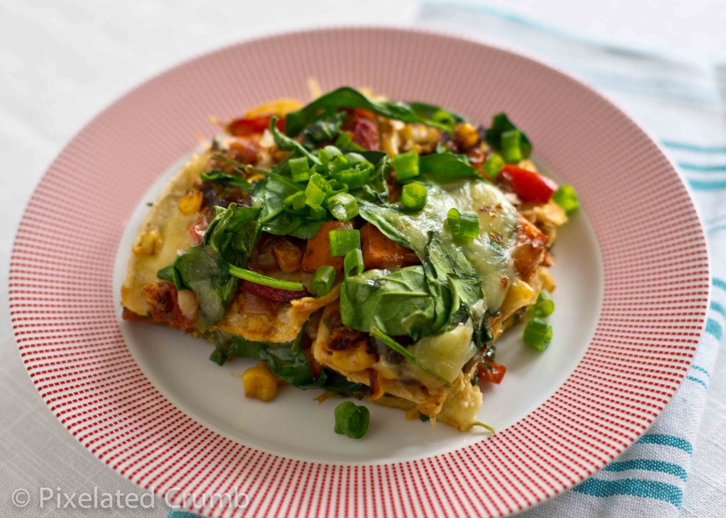 Roasted Vegetable Enchiladas Recipe — Dishmaps