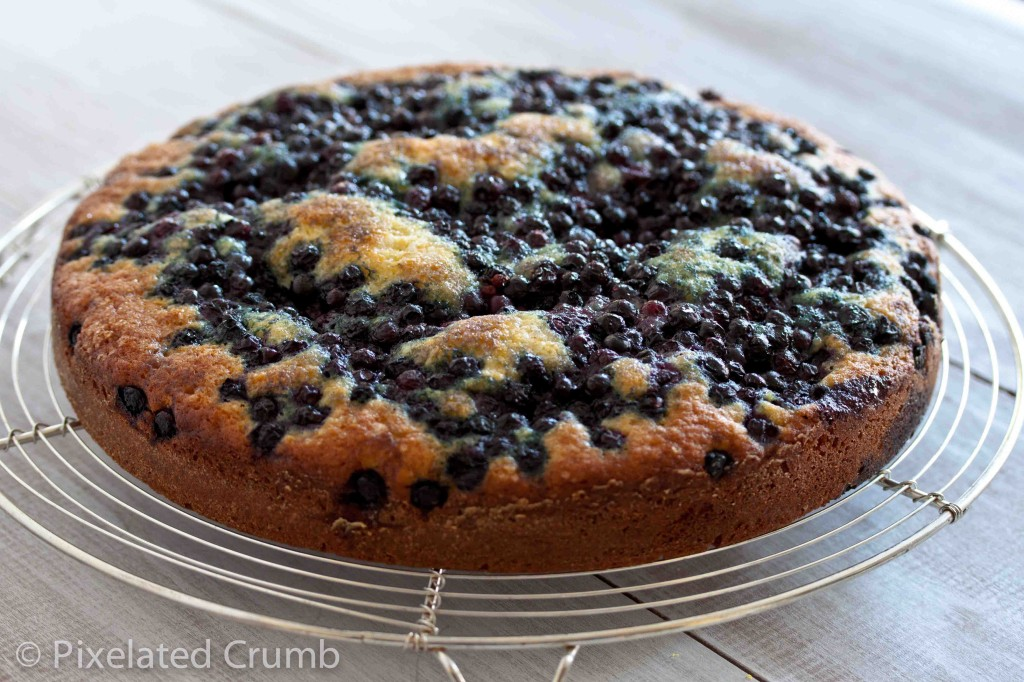 Lemon Blueberry Cake with Lemon Cream