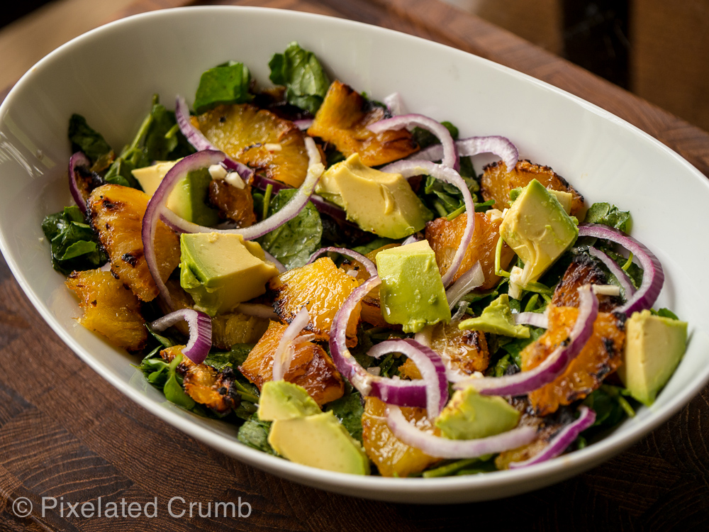 Cuban Avocado, Pineapple, and Watercress Salad